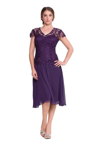 Mother of the Bride Formal Gown-PLUM-2X