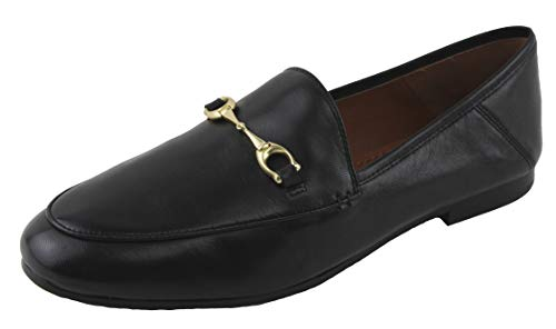 Coach Women's Haley Loafers Shoes Leather Black 9