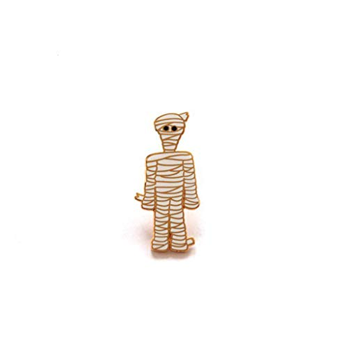 kinmyte Gothic Zombie Mummy Ghost Skeleton Skull Brooch Enamel Pin Halloween Jewelry(1piece)