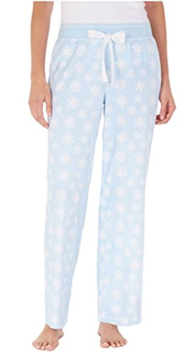 Womens Velour Lounge Pant - Nautica Ladies' Waffle Thermal Velour Lounge Pant (Medium)