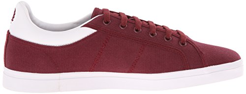 Fred Perry Mens Sidespin Canvas Fashion Sneaker Port / Bianco