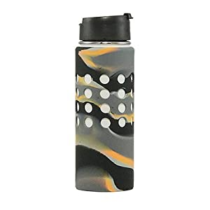 Hydroskins Hydro Flask Water Bottle Silicone Sleeve (Tiger Black Camo, 40 ounces)
