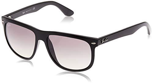 Ray-Ban RB4147 Boyfriend Square Sunglasses, Black/Grey Gradient, 56 mm
