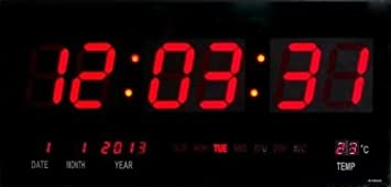 Reloj Digital de Pared con Fecha