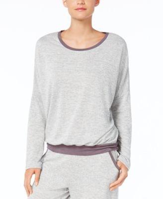 Alfani French Terry Pajama Top, Creat Light Heather XL