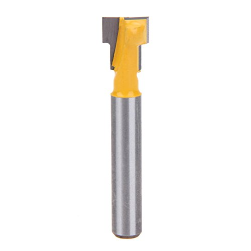Whitelotous T-Slot Cutter Router Bit for 38-Inch Hex Bolt Heads 14-Inch Shank Woodworking Tool