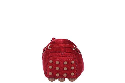 en rojo nuevo mujer ante Shoe Car mocasines ExwqRqF
