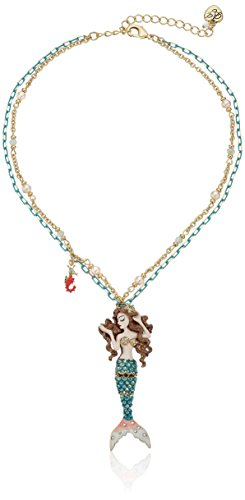 Betsey Johnson The Sea Mermaid Pendant Necklace ()