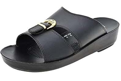 Aerosoft Black Slides Slipper For Men