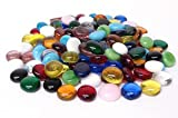 System 96 Glass Pebbles- Mixed Color Assortment - 96 COE - 1/2 Pound Bag