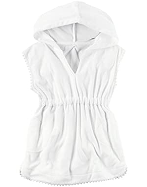 Baby Girls' Terry Swim Coverup, White