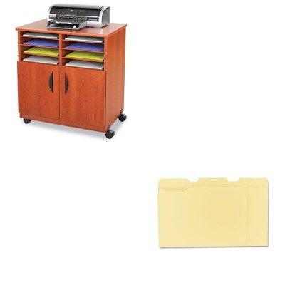 Safco Laminate - KITSAF1851CYUNV12113 - Value Kit - Safco Laminate Machine Stand w/Sorter Compartments (SAF1851CY) and Universal File Folders (UNV12113)
