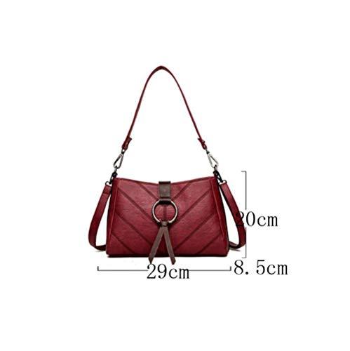 Korean Fashion Gris Shoulder La Messenger Bag Bolso Sra De Hombro qxIxZXf