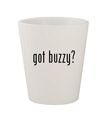 got buzzy? - Ceramic White 1.5oz Shot Glass