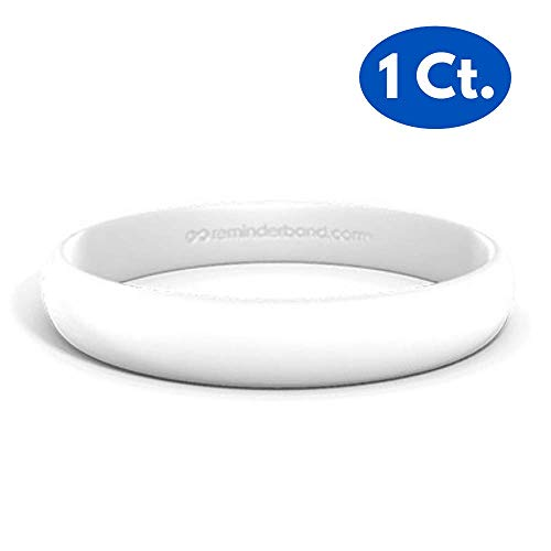 Reminderband Custom Contour 100% Silicone Wristband - Personalized Silicone Rubber Bracelet - Customized, Events, Gifts, Support, Causes, Fundraisers, Awareness - Men, Women, Kids