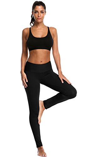 ATTRACO Women's Yoga Leggings Running Tights Inner Pocket Sports Leggings