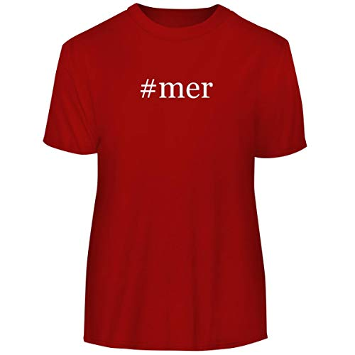 #mer - Hashtag Men's Funny Soft Adult Tee T-Shirt, Red, X-Large