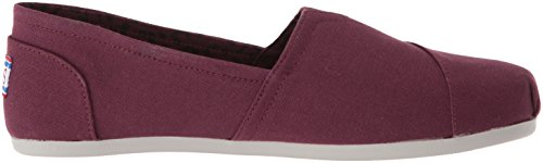 Skechers Womens Pluche-peace And Love Ballet Platte Bourgondië