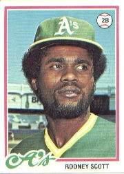 (1978 Topps Baseball Rookie Card #191 Rodney Scott)
