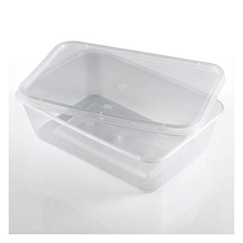 Salida Thali - 50 x Rectangular 650 ml microondas recipientes de ...