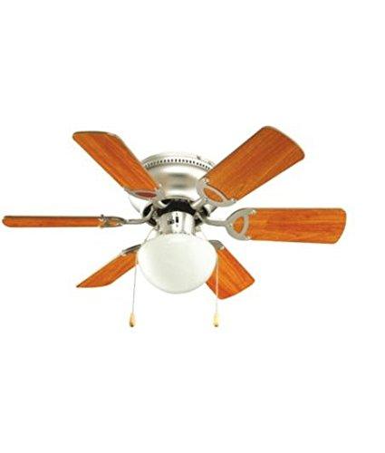 Twister brushed chrome effect ceiling fan light