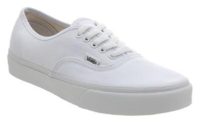 Vans Unisex Authentic Core Classic Sneakers (9 B(M) US Women / 7.5 D(M) US Men, True White)