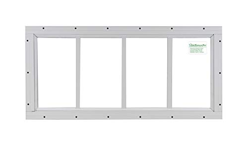 Cheap Shed Transom Window 10″ X 23″ White Flush