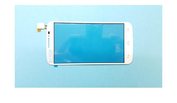 Color Blanco – Pantalla táctil digitalizador cristal de pantalla para Alcatel One Pop C7 Dual de OT 7041d, Dual 7041 X, Dual 7040d, Dual 7040 F, Dual OT de 7040E compatible con