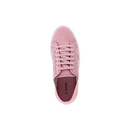 Zapatillas Victoria 09302 - Plataforma Lona Dentada mujer Merlot