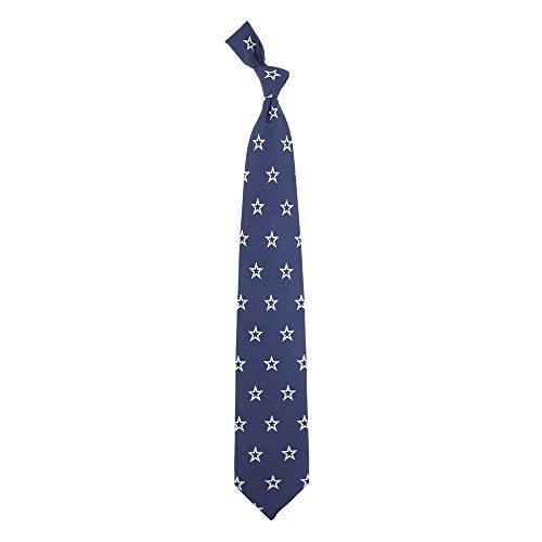 NFL Dallas Cowboys Men's Print Silk Prep Necktie, One Size, Multicolor