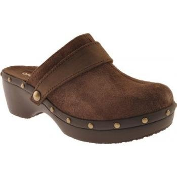 Crocs Women's Cobbler Stud Leather Clog,Espresso/Espresso,8 M US