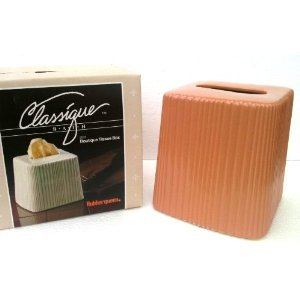 1960's Vintage Ceramic BOUTIQUE TISSUE BOX Classique Bath RUBBERQUEEN (TIGER LILY)