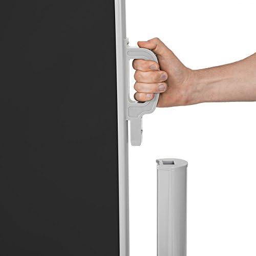 TecTake Toldo Lateral de Aluminio Separador retráctil terraza protección De Vivienda y de Base Postes Completo de Aluminio Varias tamaños - (Negro | 180x300cm | no. 401528): Amazon.es: Hogar