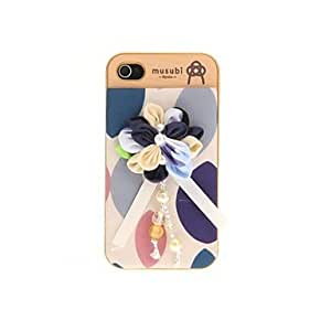 SHOUJIKE Korean Version Cloth Flowers Series Style Blue and White Flowers Hard Back Case for iPhone 4/4S