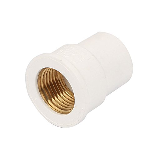 uxcell 1/2BSP Female Thread PVC Straight Pipe Fitting Coupler Connector