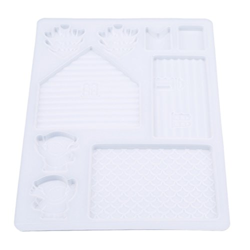 Dolland Christmas House Chocolate Mold Gingerbread House Kit Chocolate House Plastic Cookie Cutter ()