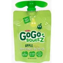 Gogo Squeez Apple Pear Go Apple Sauce, 3.2 Ounce -- 48 Per Case.