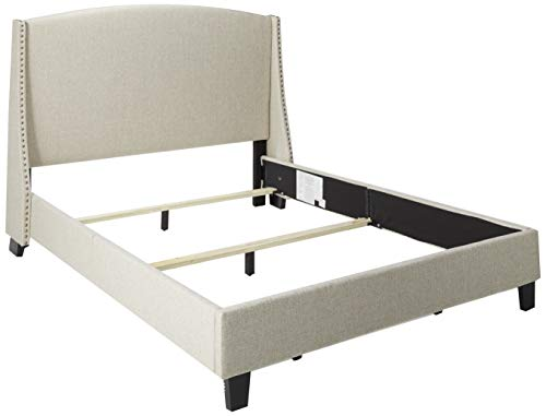 Pulaski DS-D117-290-485 Queen Shelter Back Upholstered Bed, 83.0″ x 68.5″ x 51.0″, Linen Review