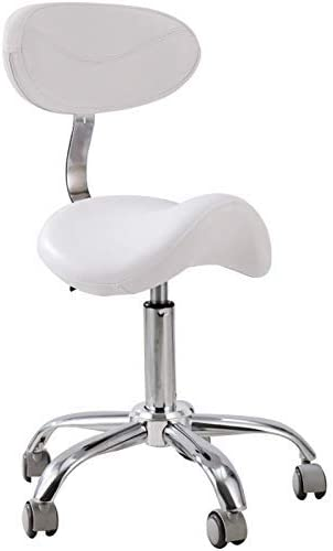Chaise de Bureau pivotante, Selle Selle Selle Chaise avec des Roues de Dossier Tabouret de Travail for Coiffure Barber Tattoo Home Bureau