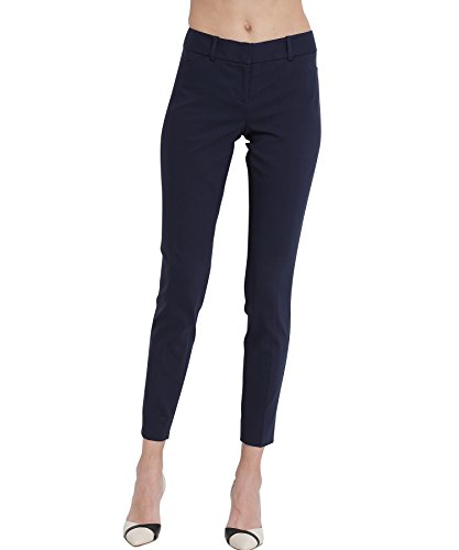 ATOUR Women Chic Skinny Cigarette Trousers Casual Business Pants Slim Fit Navy Size 8 by ATOUR