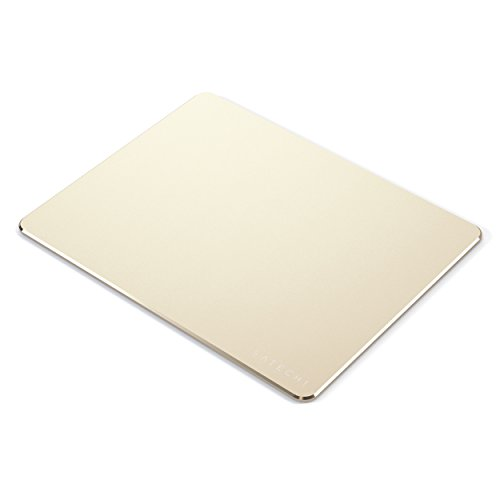 Satechi Aluminum Mouse Pad with Non-Slip Rubber Base - Compatible with Computers, Laptops and Desktops (Gold)