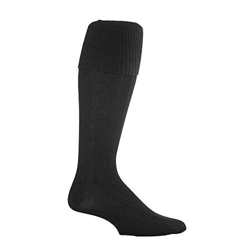 1 Pair Peter Shilton Pro Action Football Socks Boys UK 4-6 (approx. 11 years plus) BLACK
