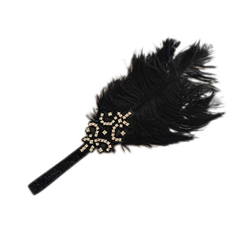1 Piece Roaring Vintage Feather 20s Headpiece 1920s Headband For Women Lady