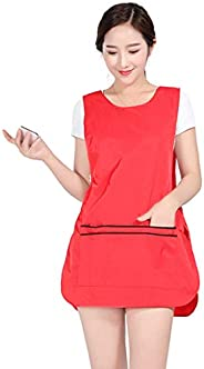 YUENA CARE Hairdresser Apron for Hair Stylist Salon Aprons Waitress Clothes Vest with Pockets