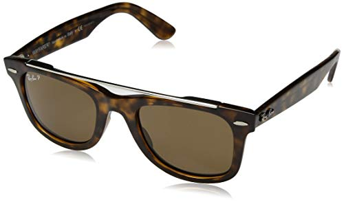 Ray-Ban RB4540 Wayfarer Double Bridge Sunglasses, Light Tortoise/Polarized Crystal Brown, 50 mm (Rote Ray-ban Sonnenbrillen)