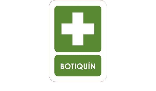 Oedim Señaletica Para Exteriores Botiquin Tamaño A5 (21x14,8cm) | Señaletica en material aluminio 3 mm resistente: Amazon.es: Hogar