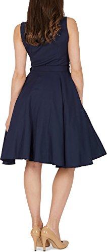 Vestido 'Luna' BlackButterfly Azul Clarity Retro Oscuro 50 Años d5qqaxH