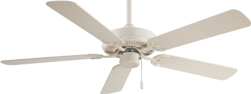 Minka Aire F547-BWH Bone White Ceiling Fan - Collection 52' Ceiling Fan