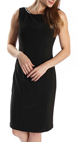 Joseph Ribkoff Black Open Back with Jewel Chain Accent Dress Style 171009 - Size 6 by Joseph Ribkoff