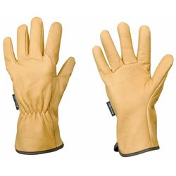 Rostaing leather gardening gloves size 8 ladies medium for Gardening gloves amazon